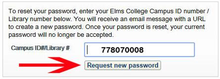 request new password