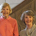 Lorraine Kelly Young '56 and Marilyn McClernon Wilkins '56