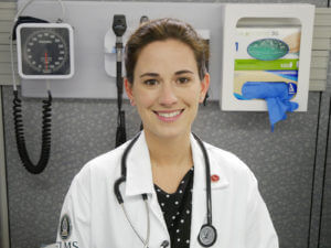 Photo of a female doctor of nursing practice, family nurse practitioner student