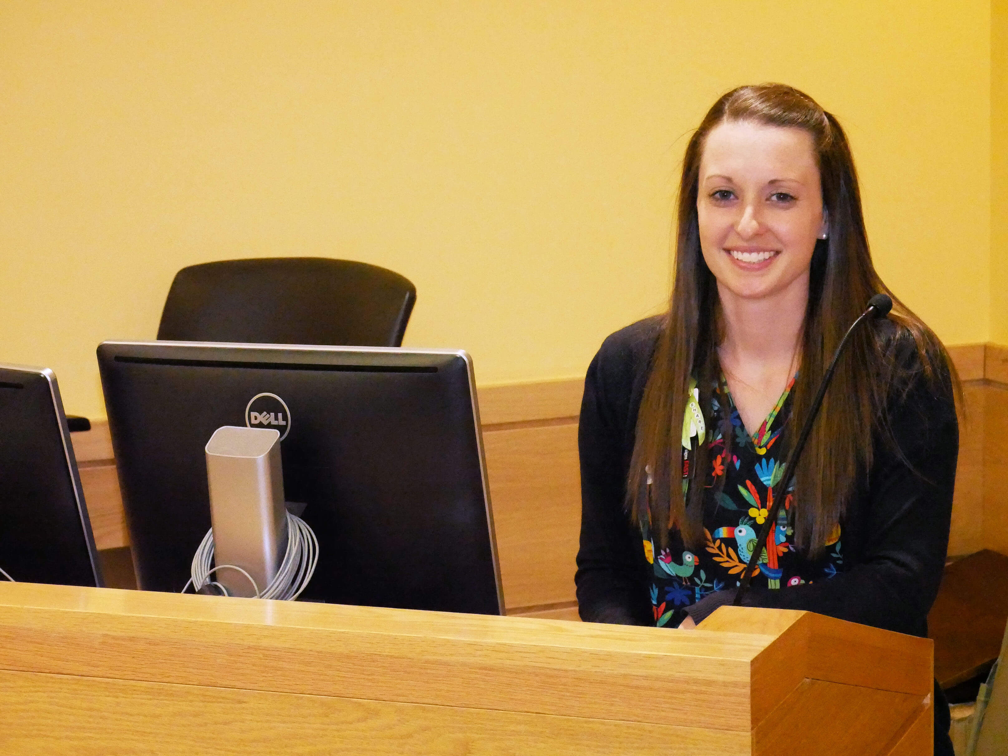 Photo of a female Master of Science in Nursing student enrolled in the Nursing and Health Services Management track