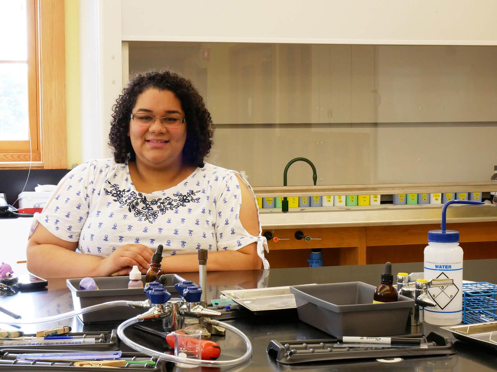 MS in Biomedical Sciences graduate Elizabeth Amaro-Gonzalez