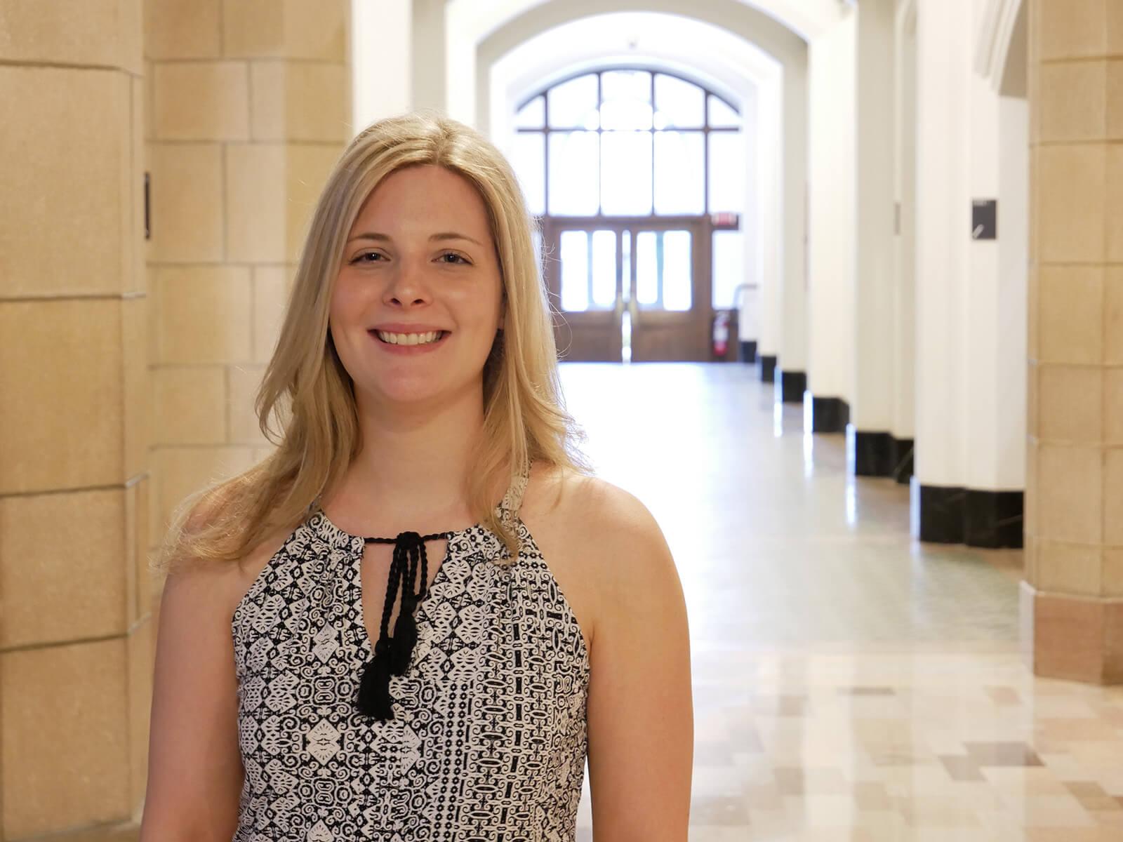 Photo of accelerated BA/MBA graduate Lauren Picard '18
