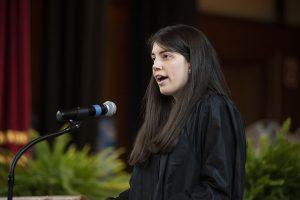 Photo of psychology and English double major Mary Iellamo, 2018 class valedictorian