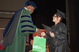 Photo of Elms/HCC social work grad and Kirley Award winner Mistie Ayala