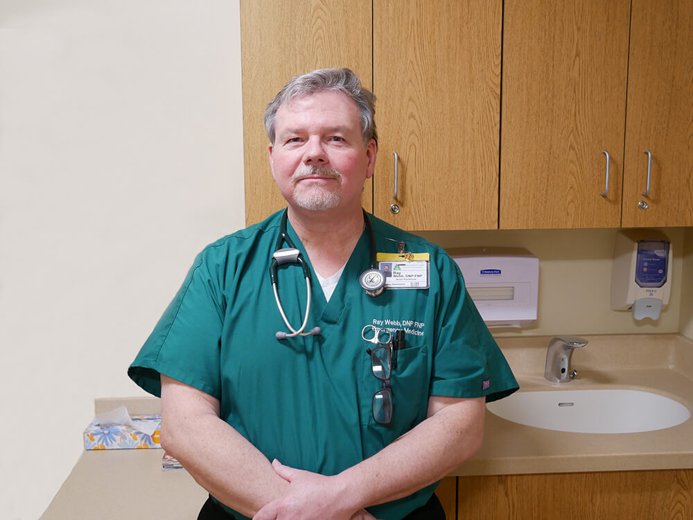 Photo of Ray Webb, a graduate of the family nurse practitioner track in the doctor of nursing practice program at Elms
