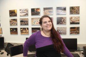 Photo of 2017 valedictorian Taytum Bouchard, a graphic design major