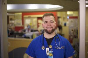 Photo of nursing graduate Austin DeCosmo