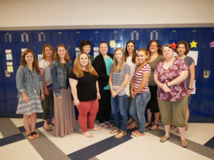 Group photo of Master of Arts in Teaching students at the Elms Summer Reading Program