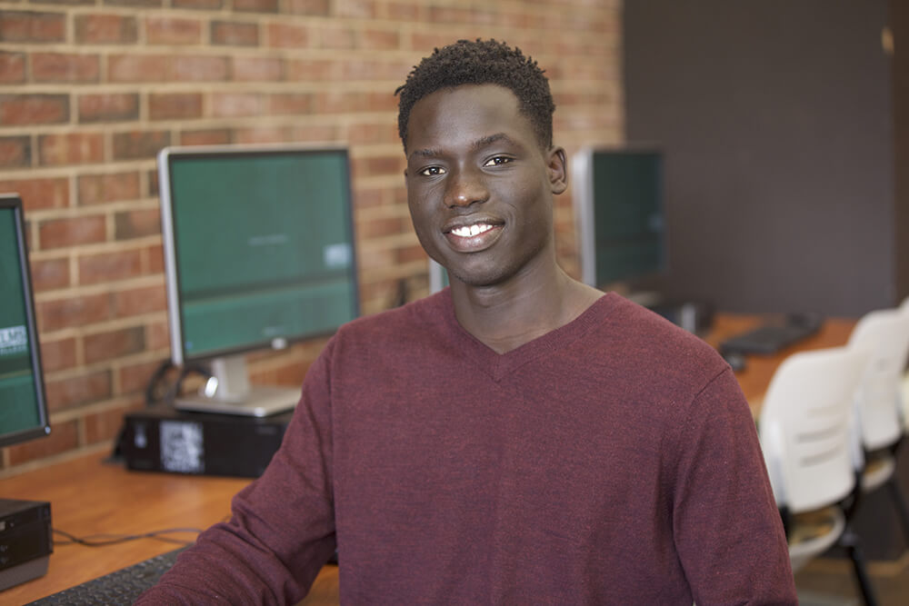 Computer science major Babba Jaden '20