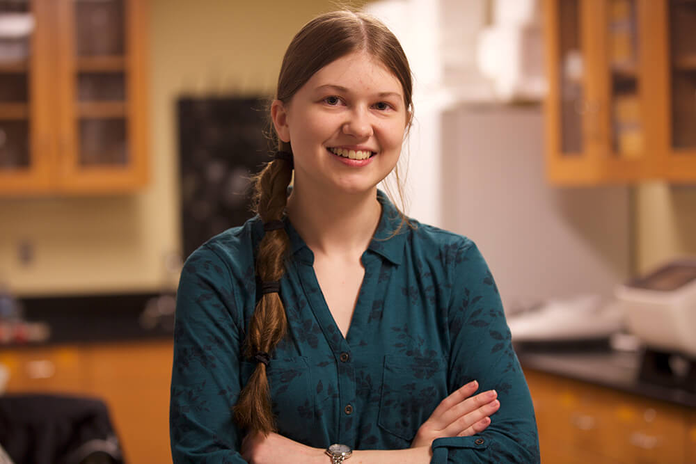 Photo of Alexandra Norton '20, an ElmSTEM scholar and biology major