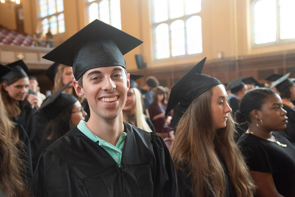 Photo of education and liberal arts double major Andrew Belliveau '18