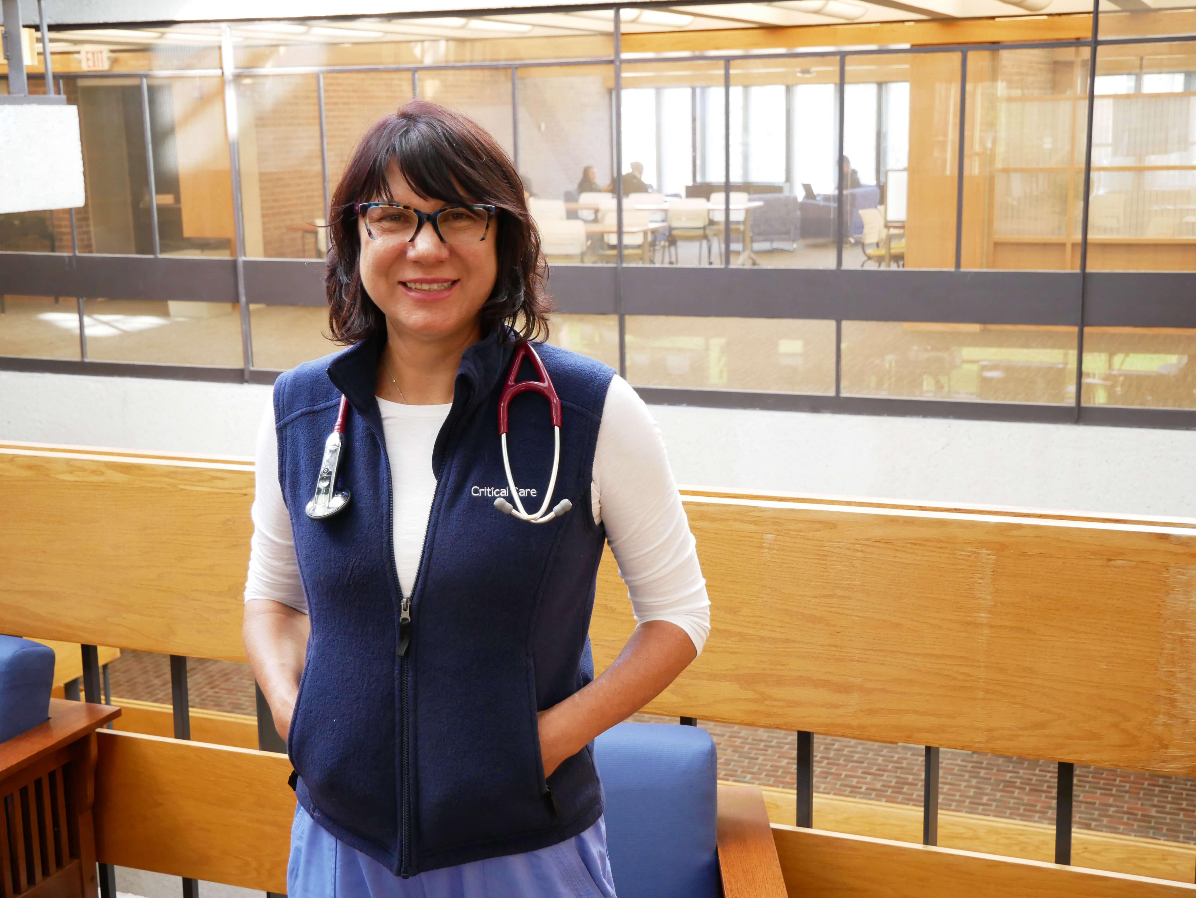 Photo of Oksana Anohina '20, a graduate student in the MSN in nursing education program