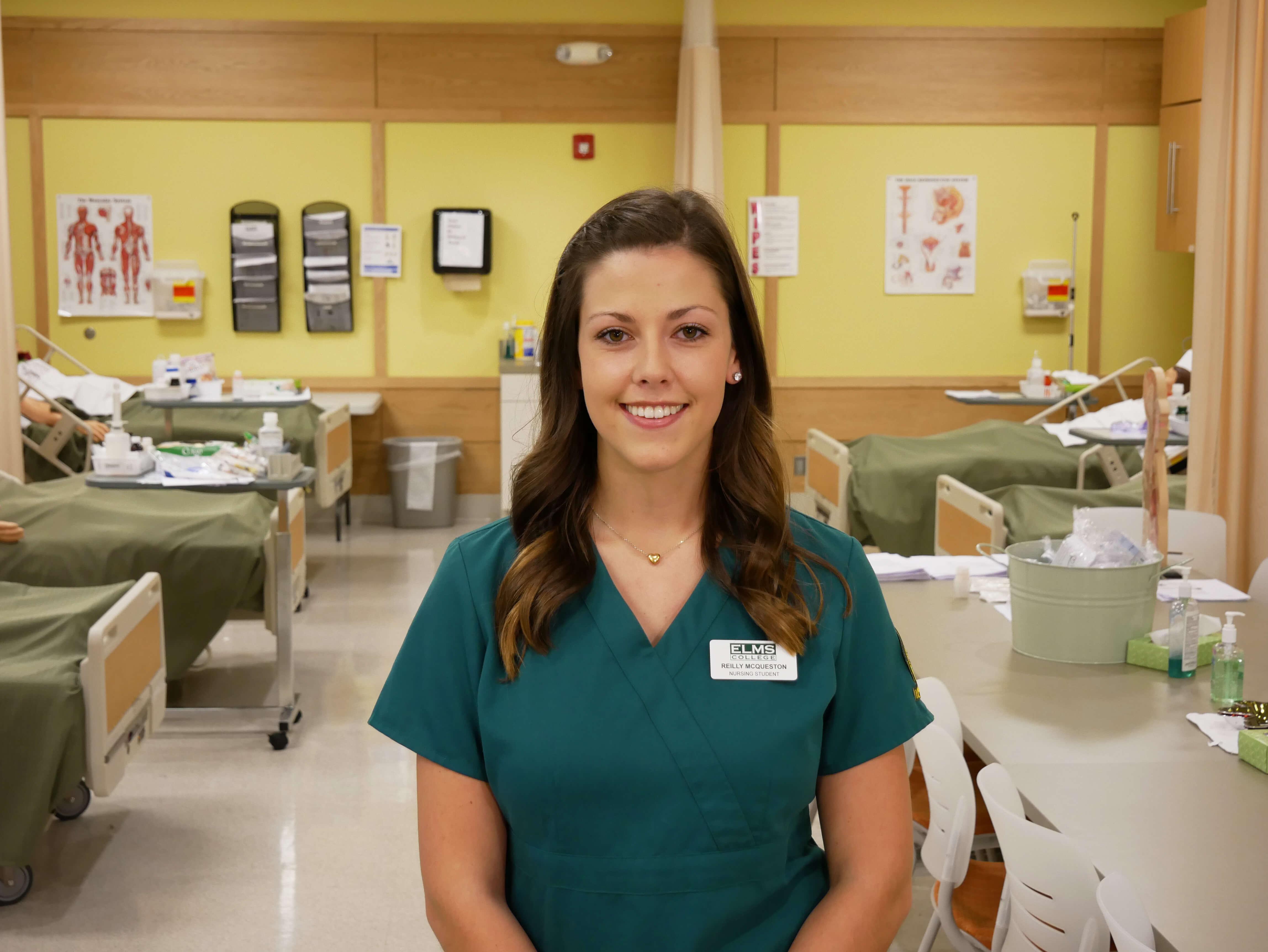 Photo of nursing major Reilly McQueston '19