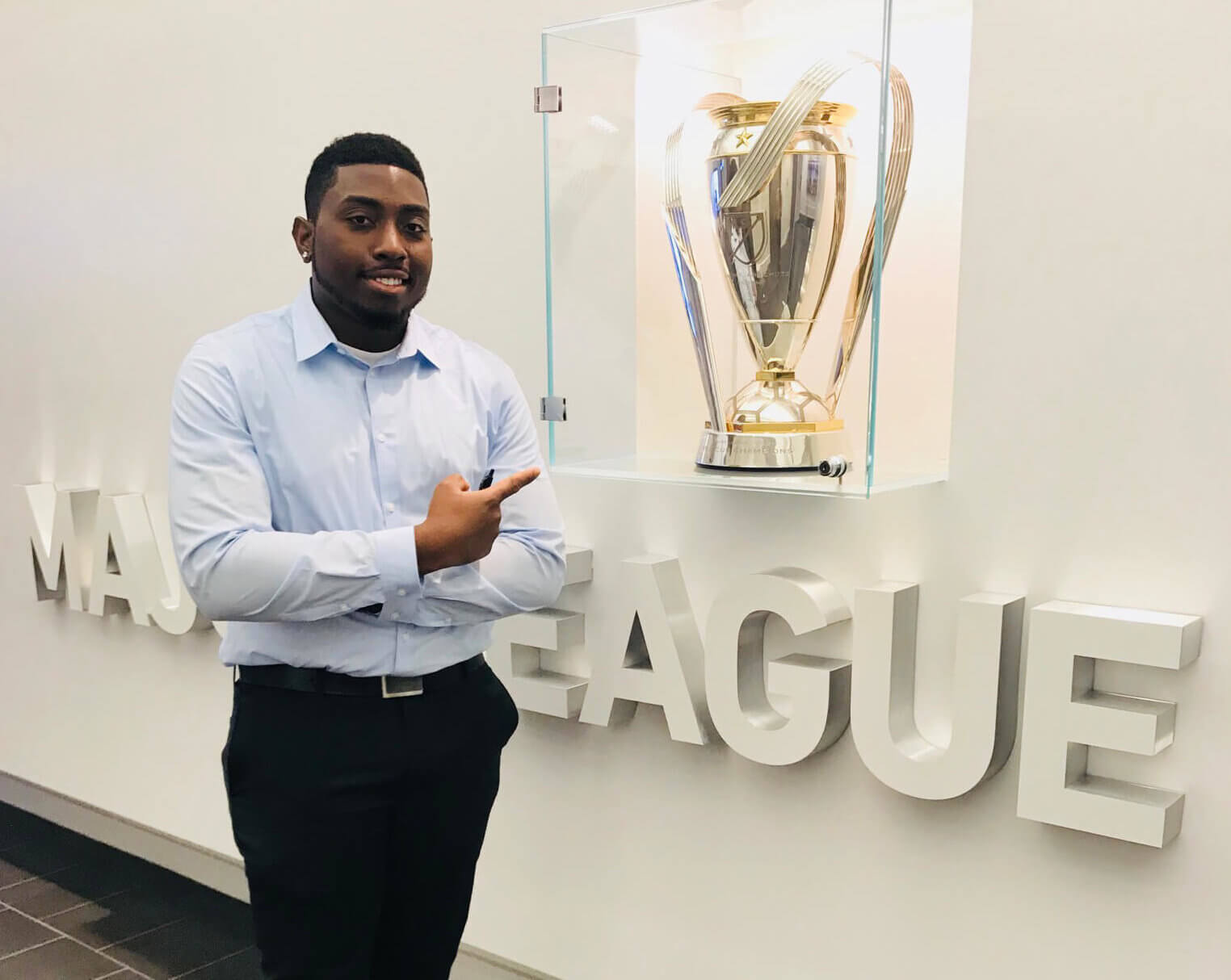 Photo of sport management and business management double major, Shaquille Robinson '19