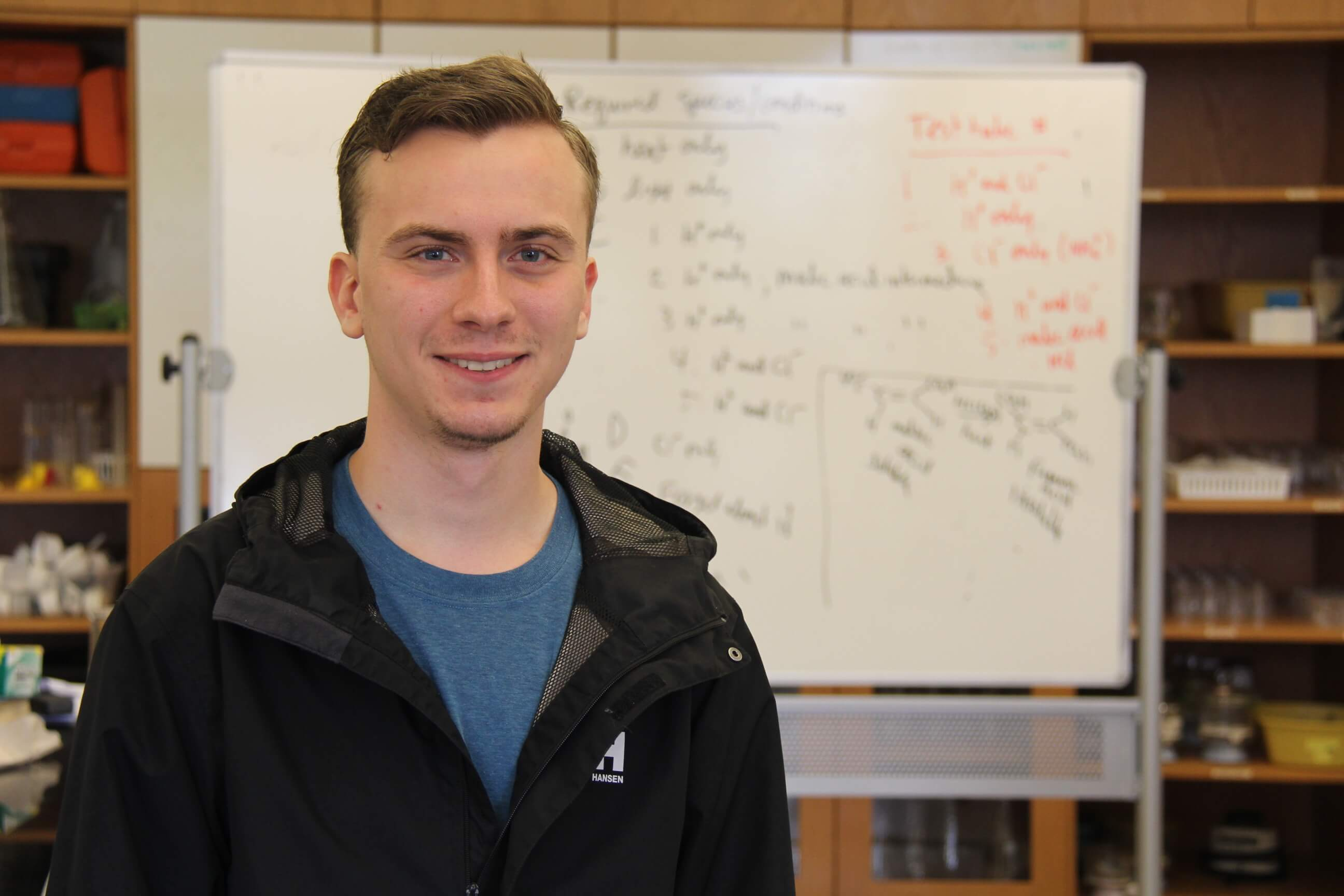 Photo of Andrew Zulch '19, a biology and chemistry double major