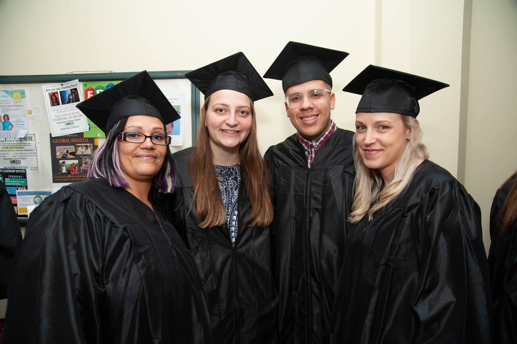 Photo of Laura Greenough '19, Javier Cruz '19, and Rachel Magnusson '19