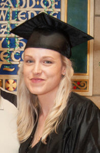Laura Greenough '19, a social work major