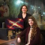 Photo of Associate Professor of Psychology Jen Rivers & Sarah Picard '18, a psychology major