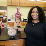Photo of Shayla Burge '20, a pre-medicine major