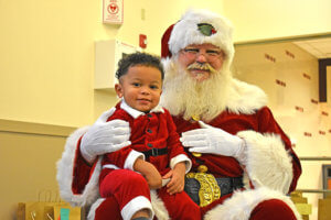 Photo of a child at the Breakfast with Santa event