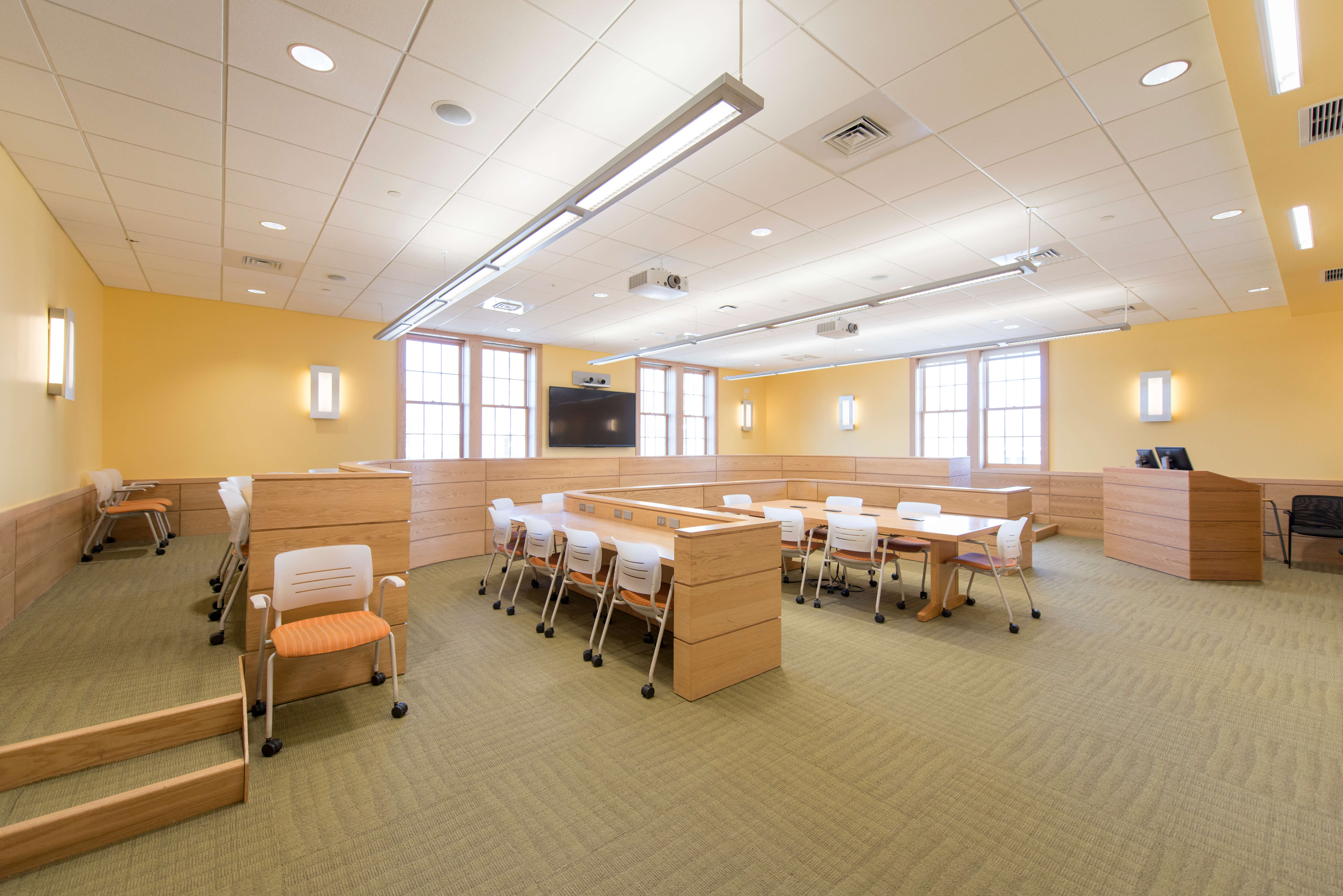 Photo of a classroom in the Lyons Center