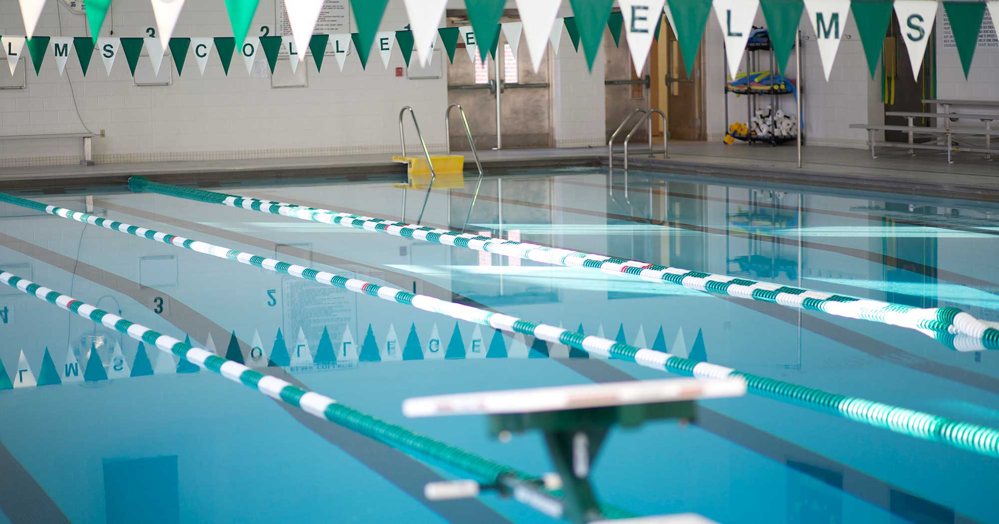 Photo of the swimming pool in the Maguire Center
