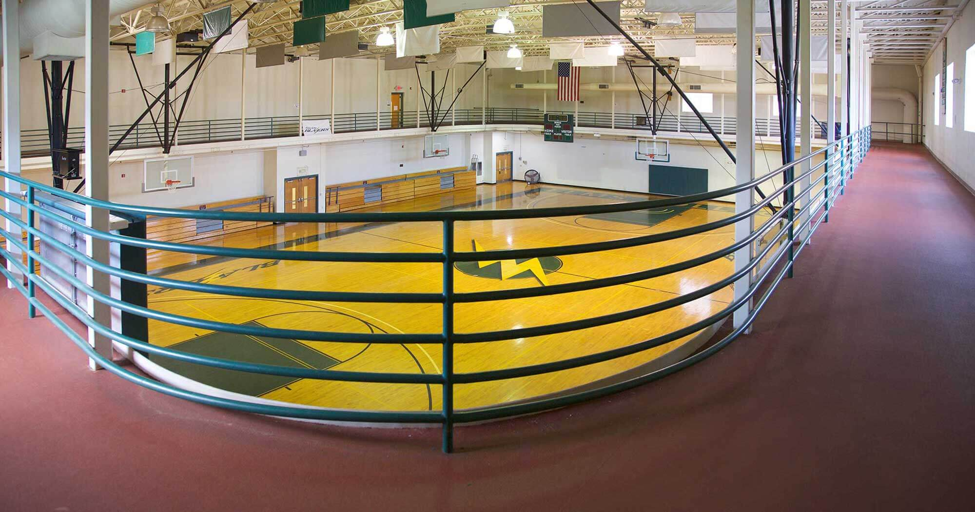Photo of the indoor track in the Maguire Center