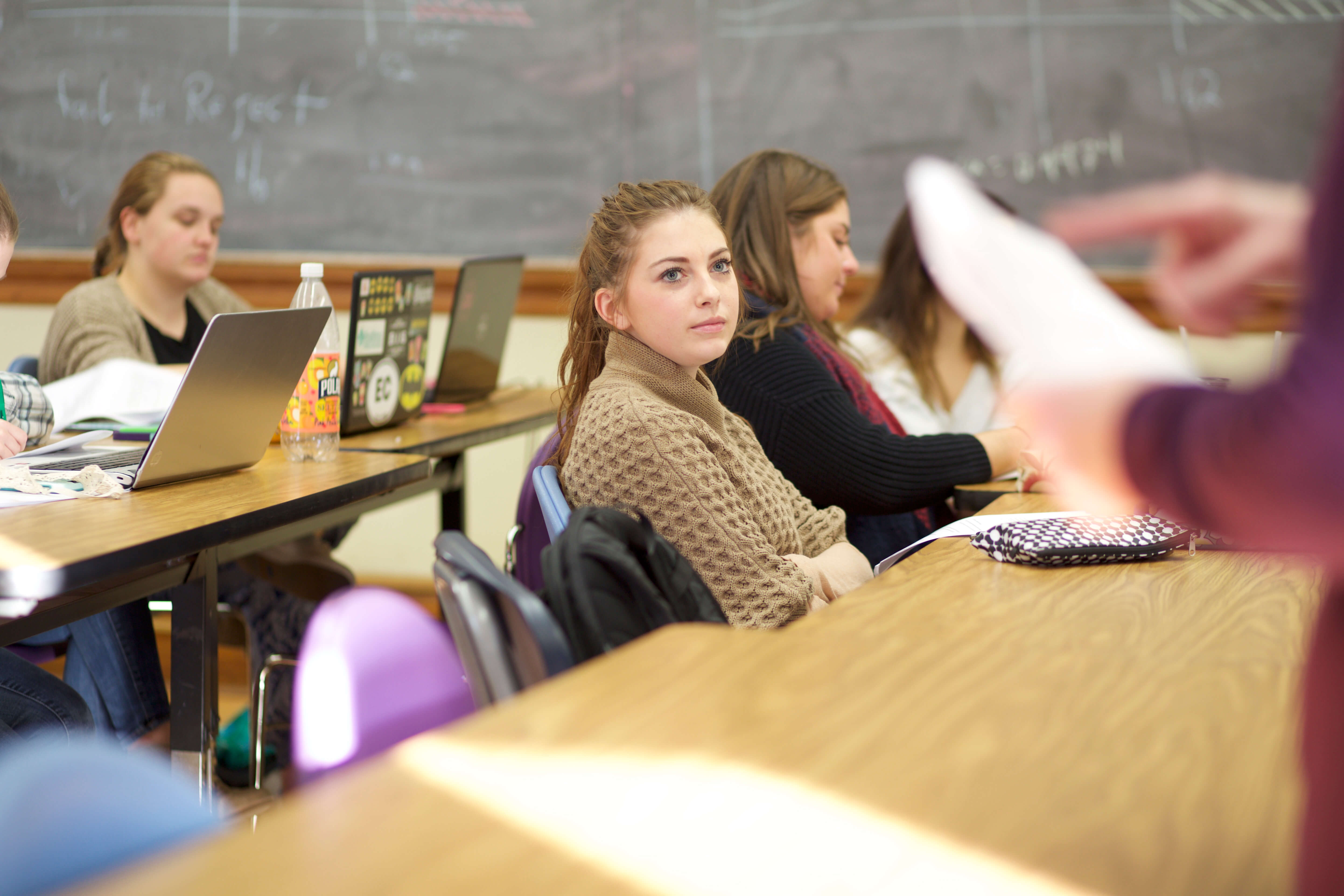 Photo of student in classroom