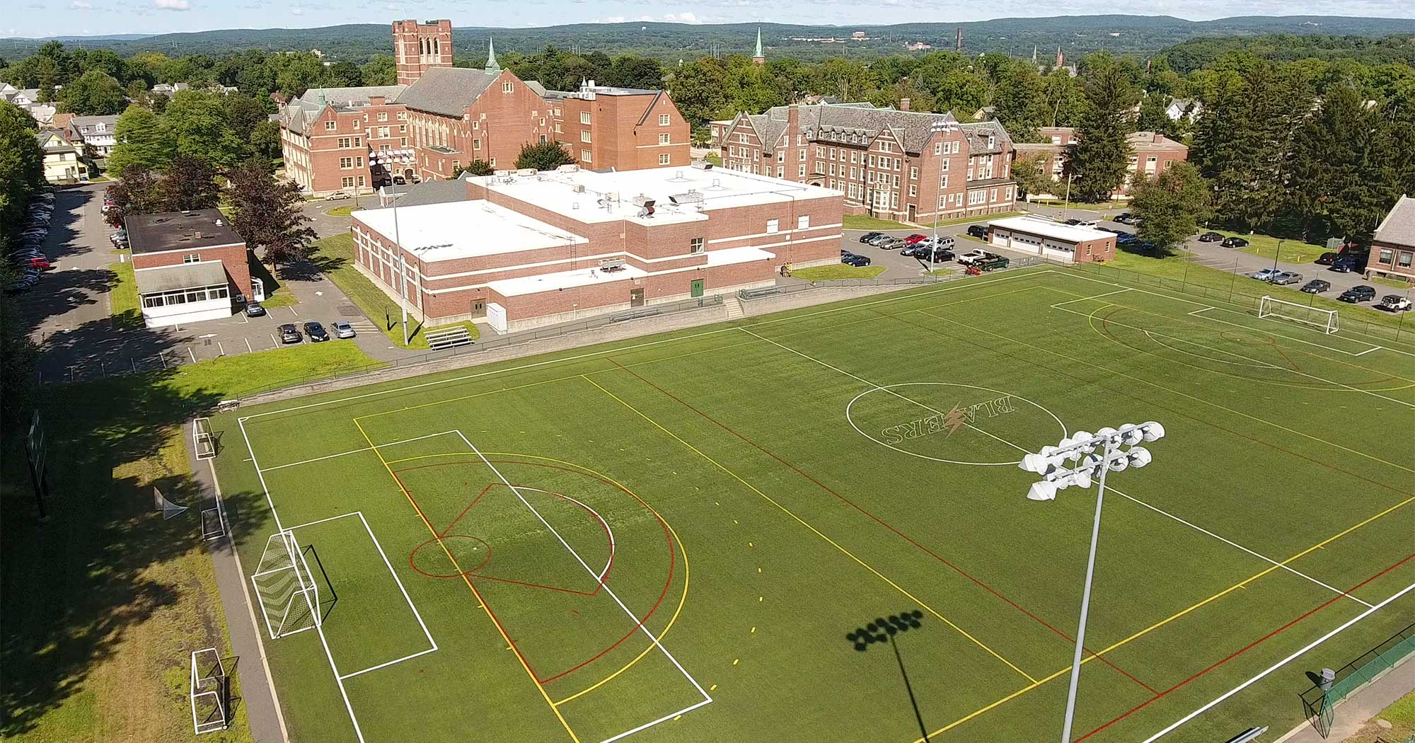 Aerial photo of Timothy J. Leary Field