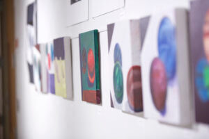 Photo of student art work in the Borgia Gallery