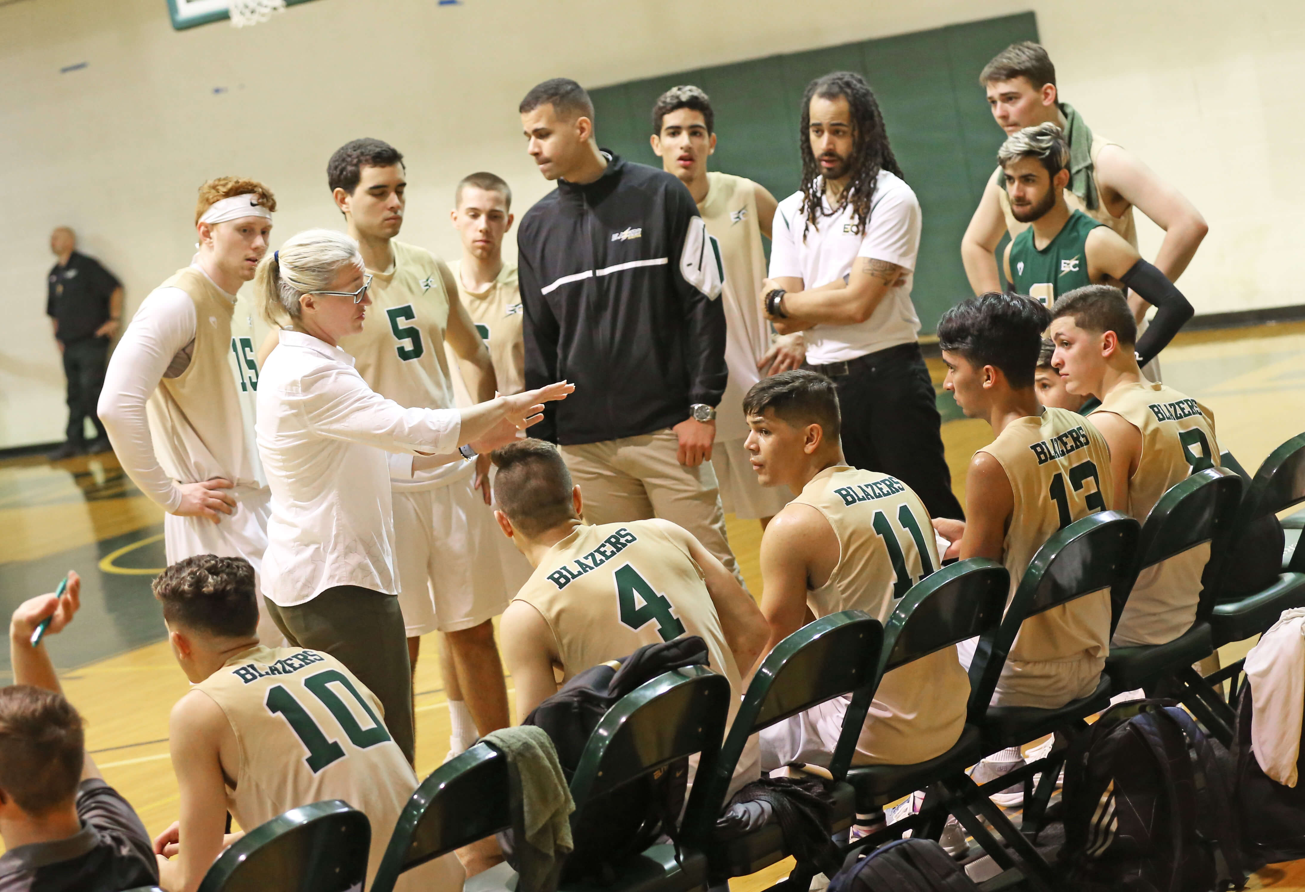 Photo of the Elms men's volleyball team - coaching concept photo