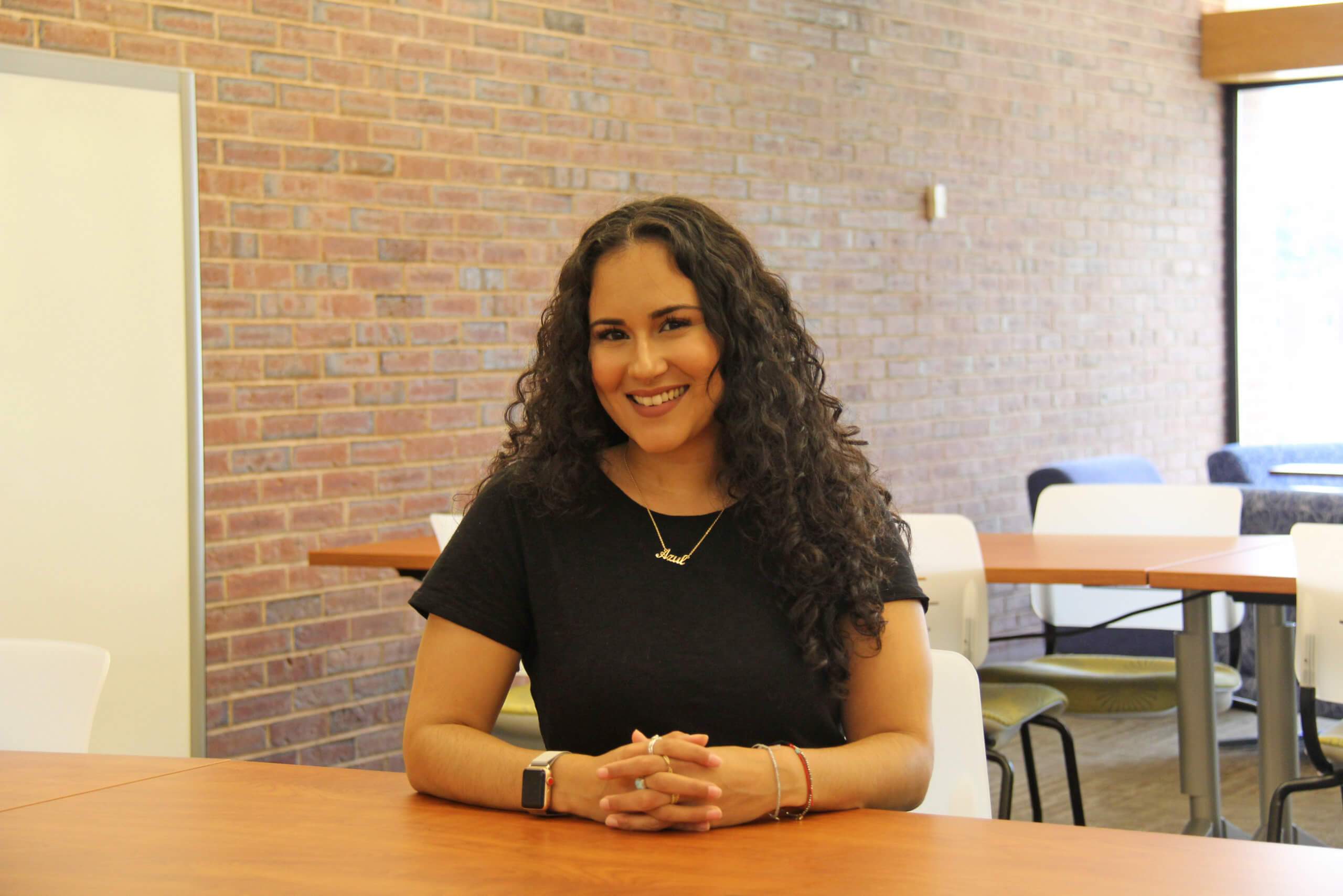 Photo of Alejandra Ocasio '19, social work grad from Elms-STCC