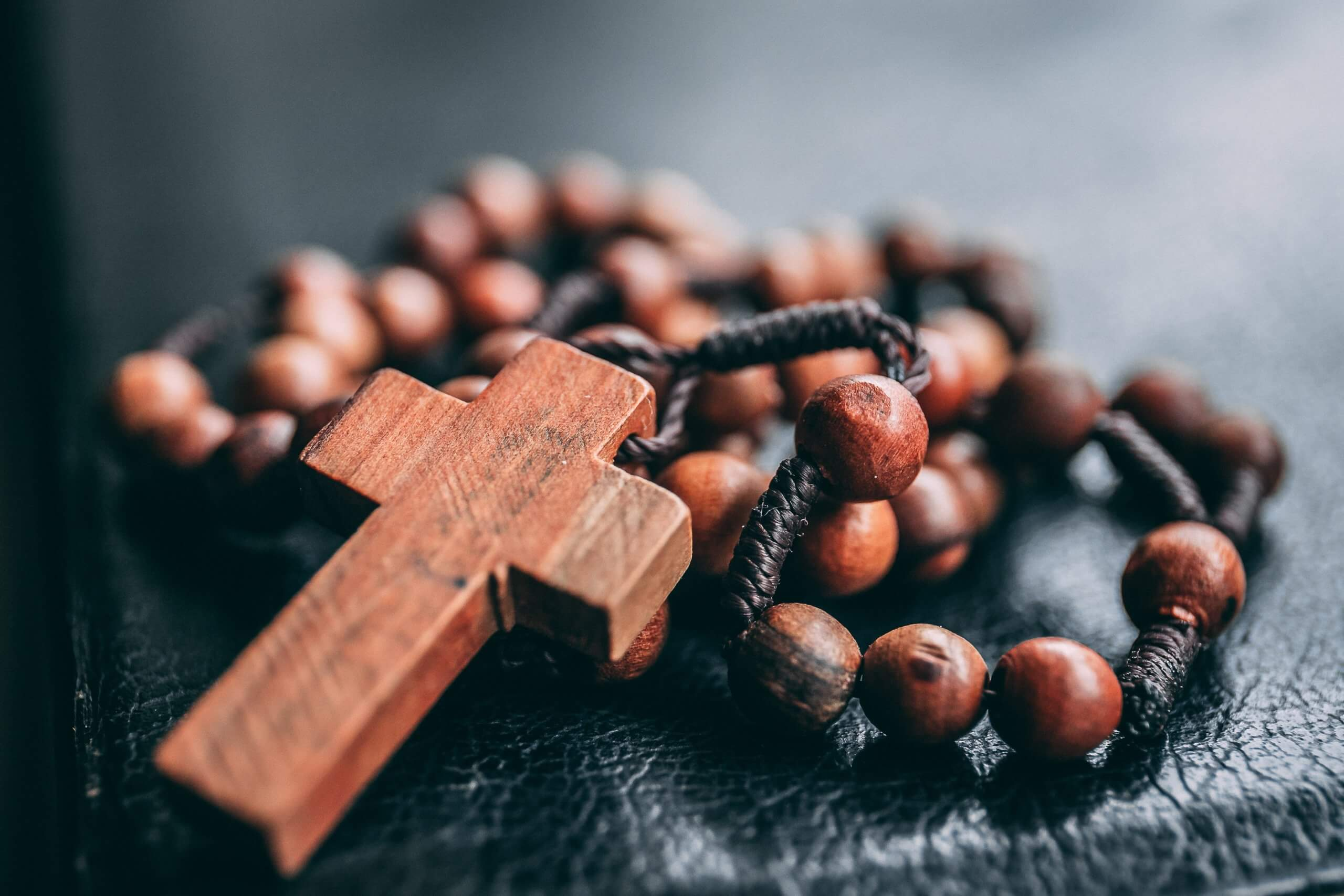 Photo of a cross and rosary