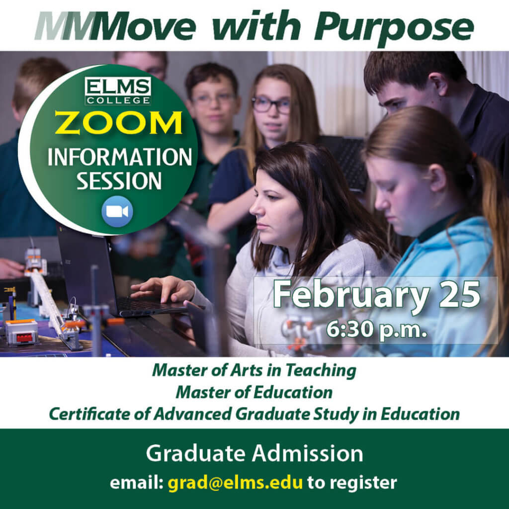 Promotional image for the February 25 informational session for graduate education programs.