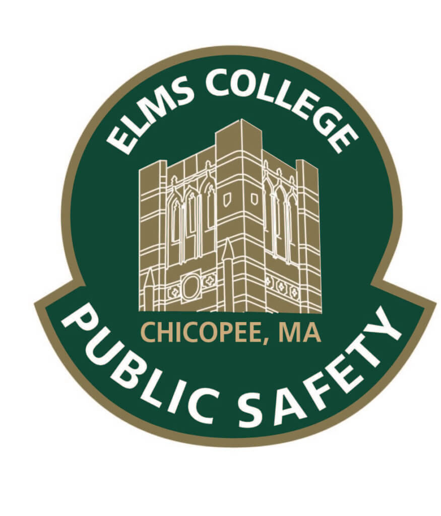 Illustrated logo for the Elms College Public Safety department.