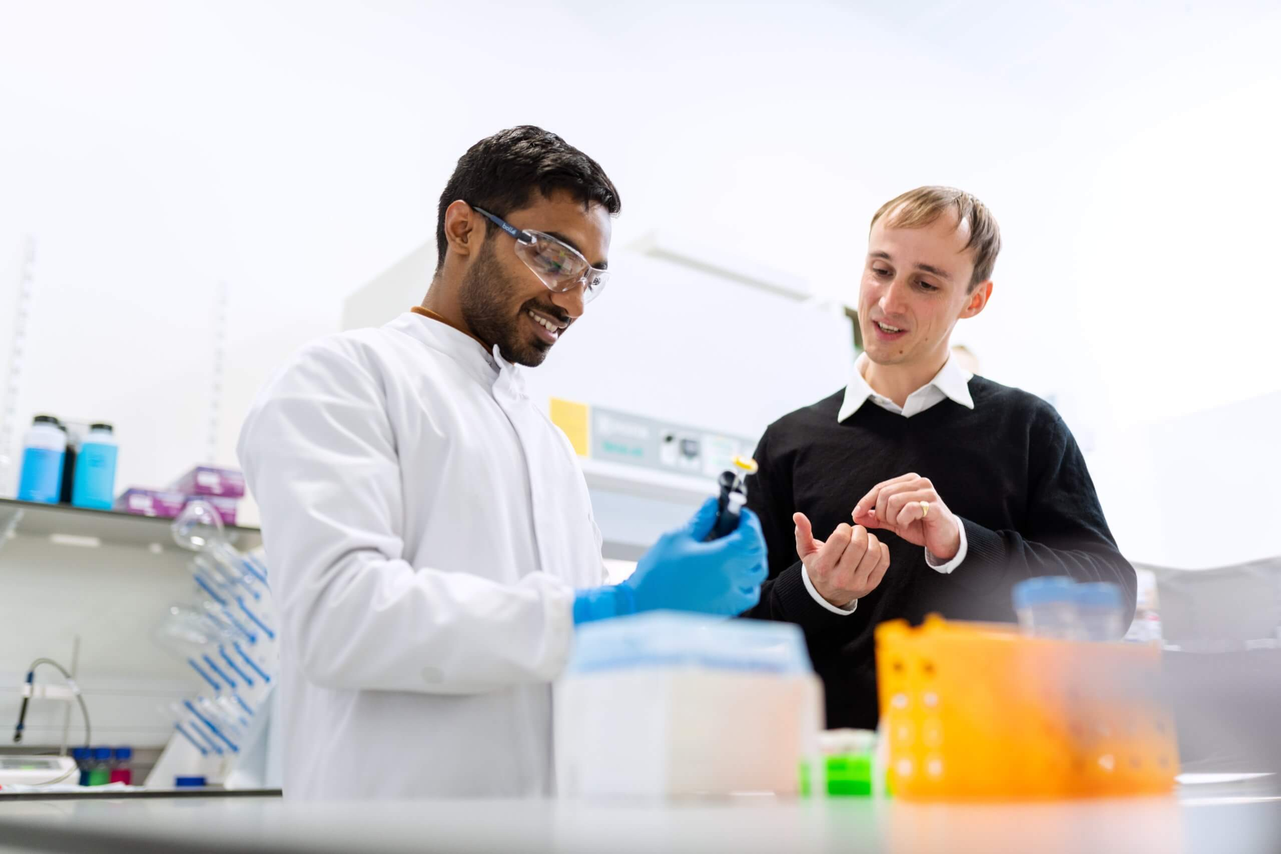 Photo of scientists working in a lab